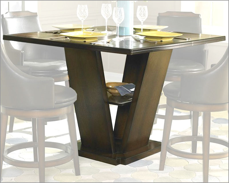 Image of: height of pedestal dining table