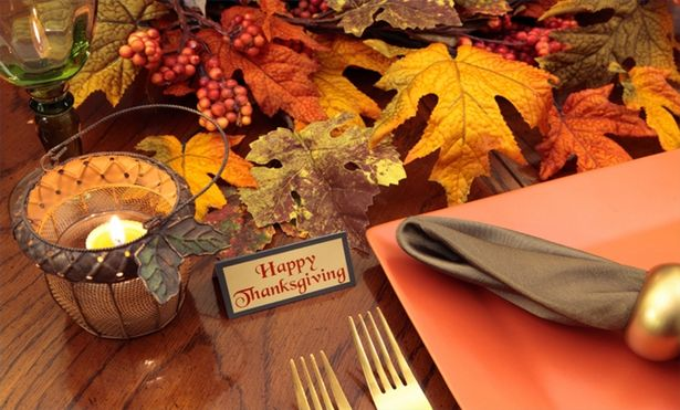 Image of: how to thanksgiving table decorations