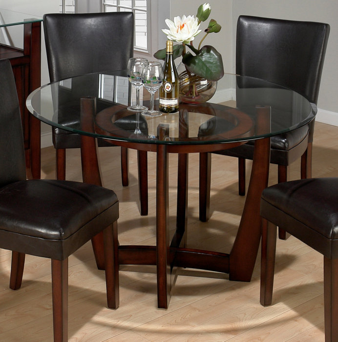 Image of: ideas pedestal dining table