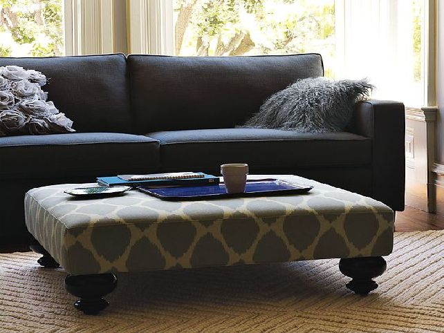 Image of: large coffee table ottoman