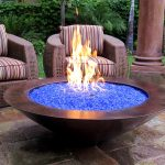 Modern Glass Fire Pit Table