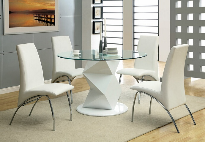 Image of: modern round pedestal dining table