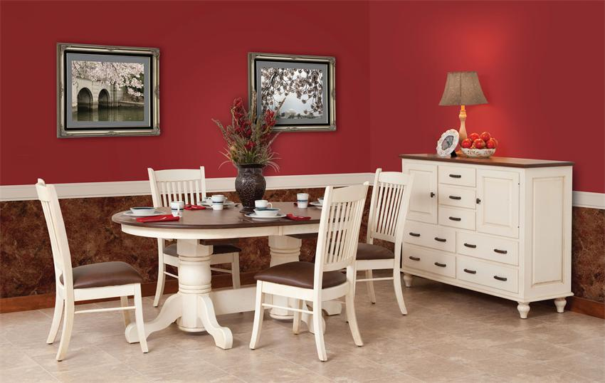 Image of: pedestal dining table color