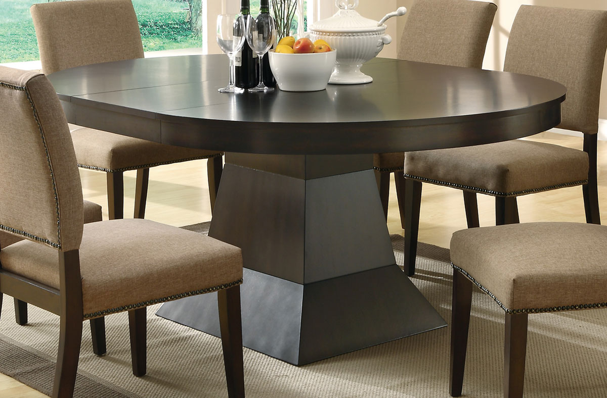 Image of: pedestal dining table designs