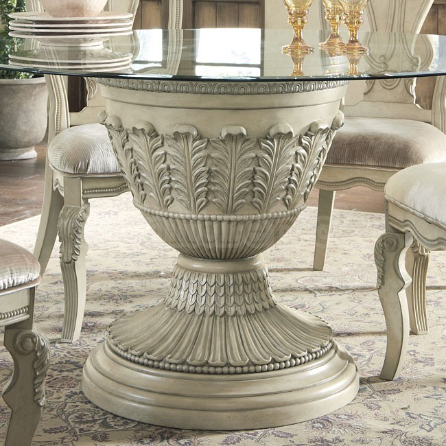 Image of: pedestal dining table in round design