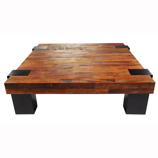 Picture of: peroba wood coffee table modern