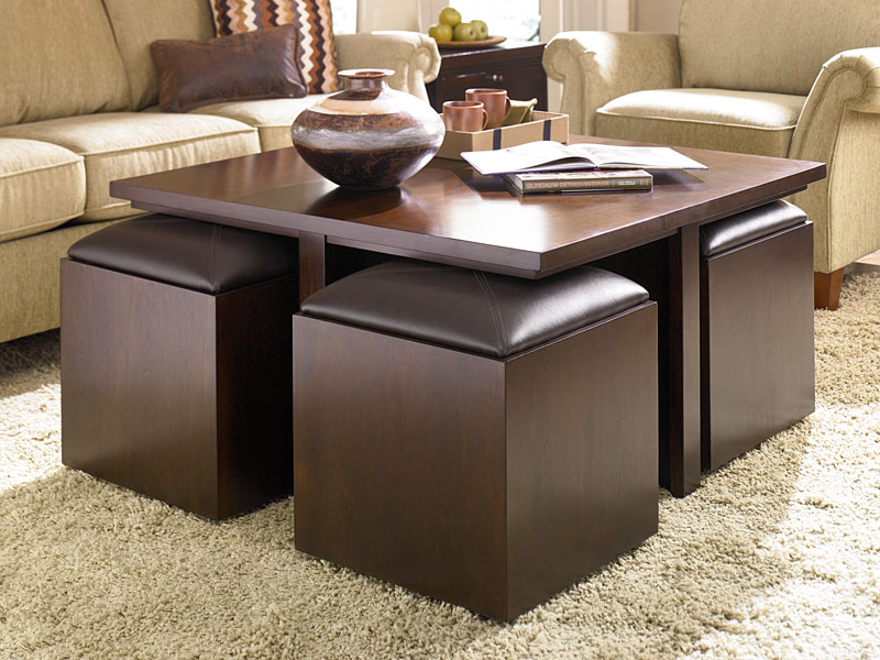Image of: small coffee table ottoman