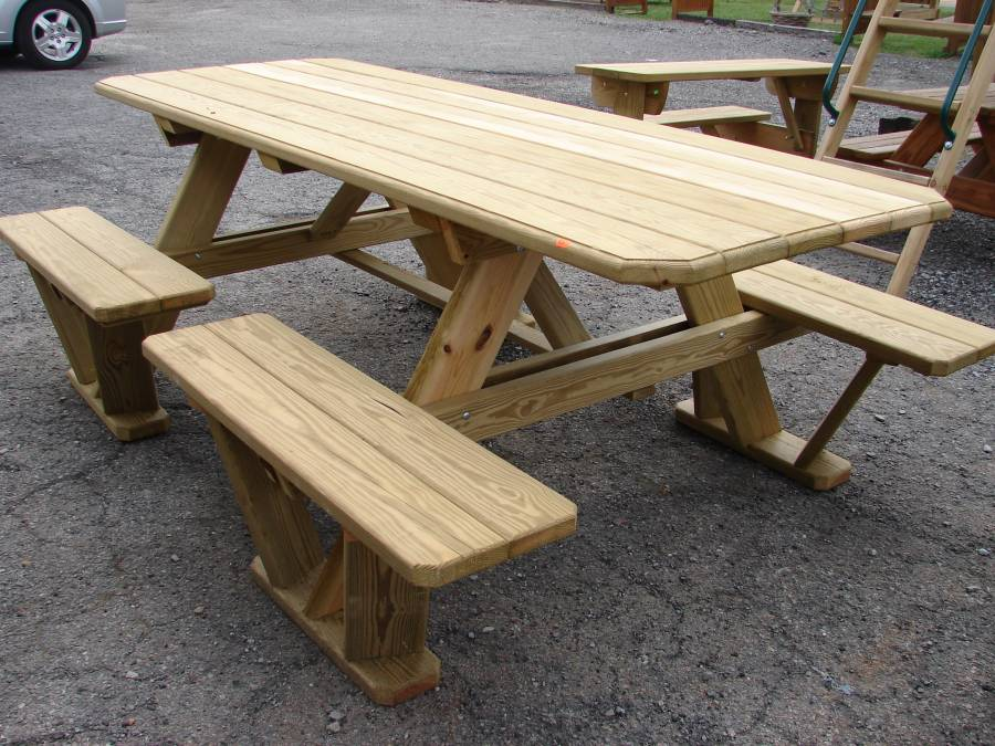 Picture of: split bench picnic table