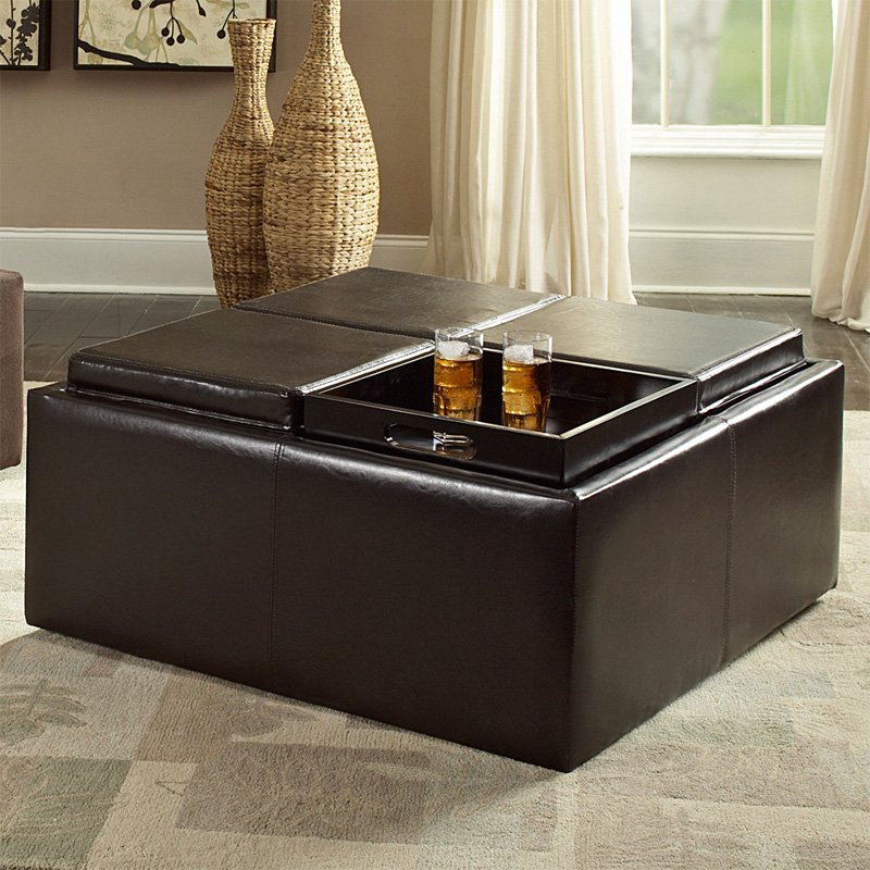 Image of: square coffee table ottoman