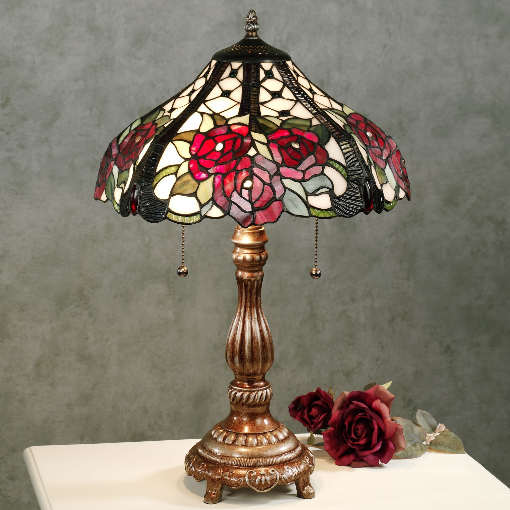 Image of: Stained Glass Lamp Shades Stained Glass Lamps For Interior