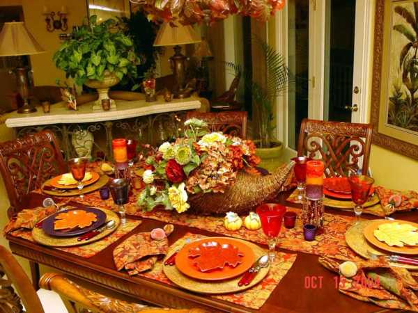 Picture of: thanksgiving table decorations  ideas