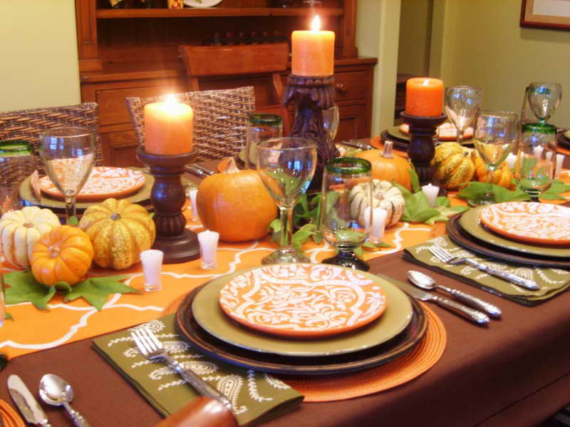 Image of: thanksgiving table decorations photo