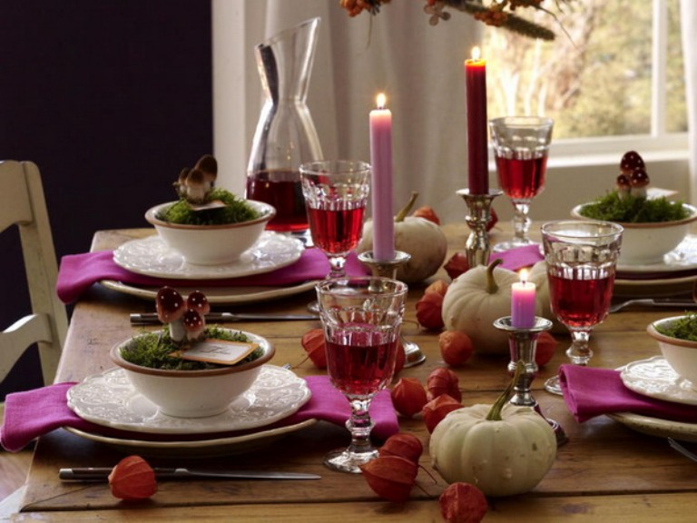 Image of: thanksgiving table decorations set