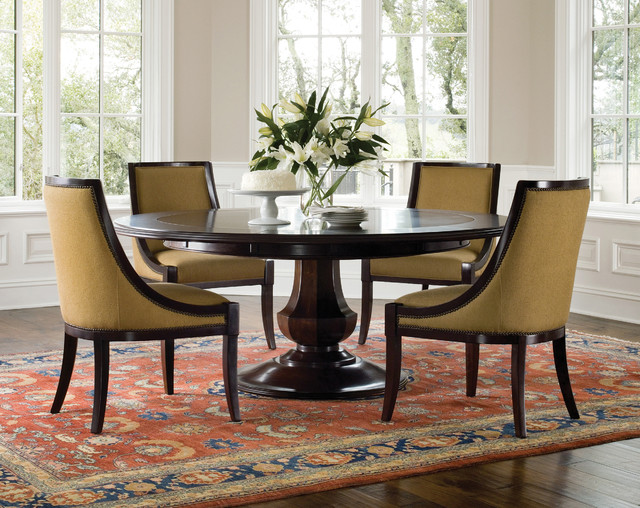 Image of: traditional pedestal dining table