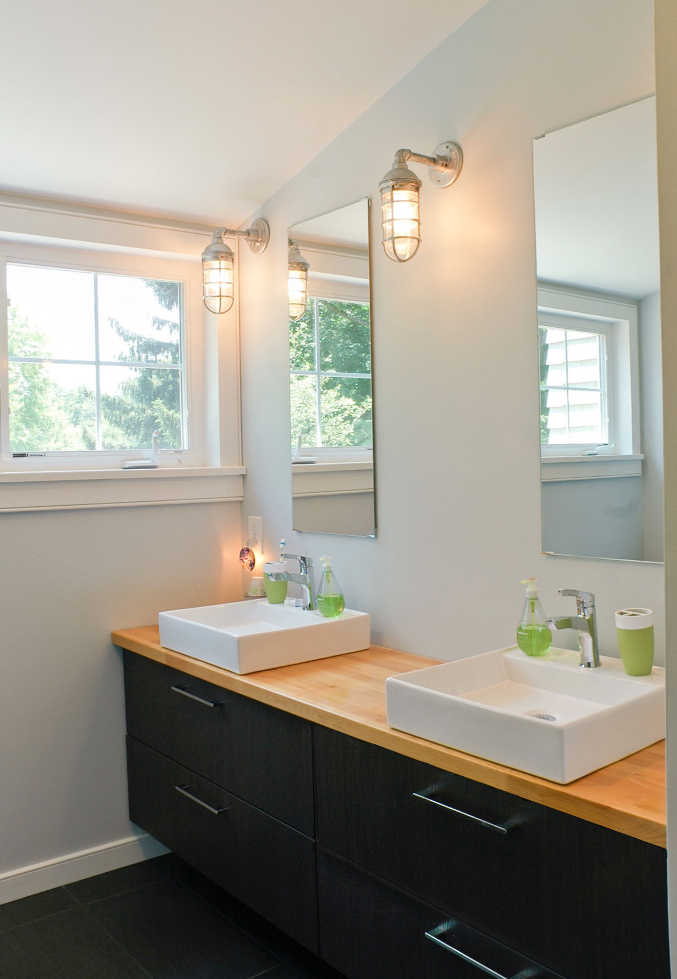 Image of: 48 Double Vanity Black