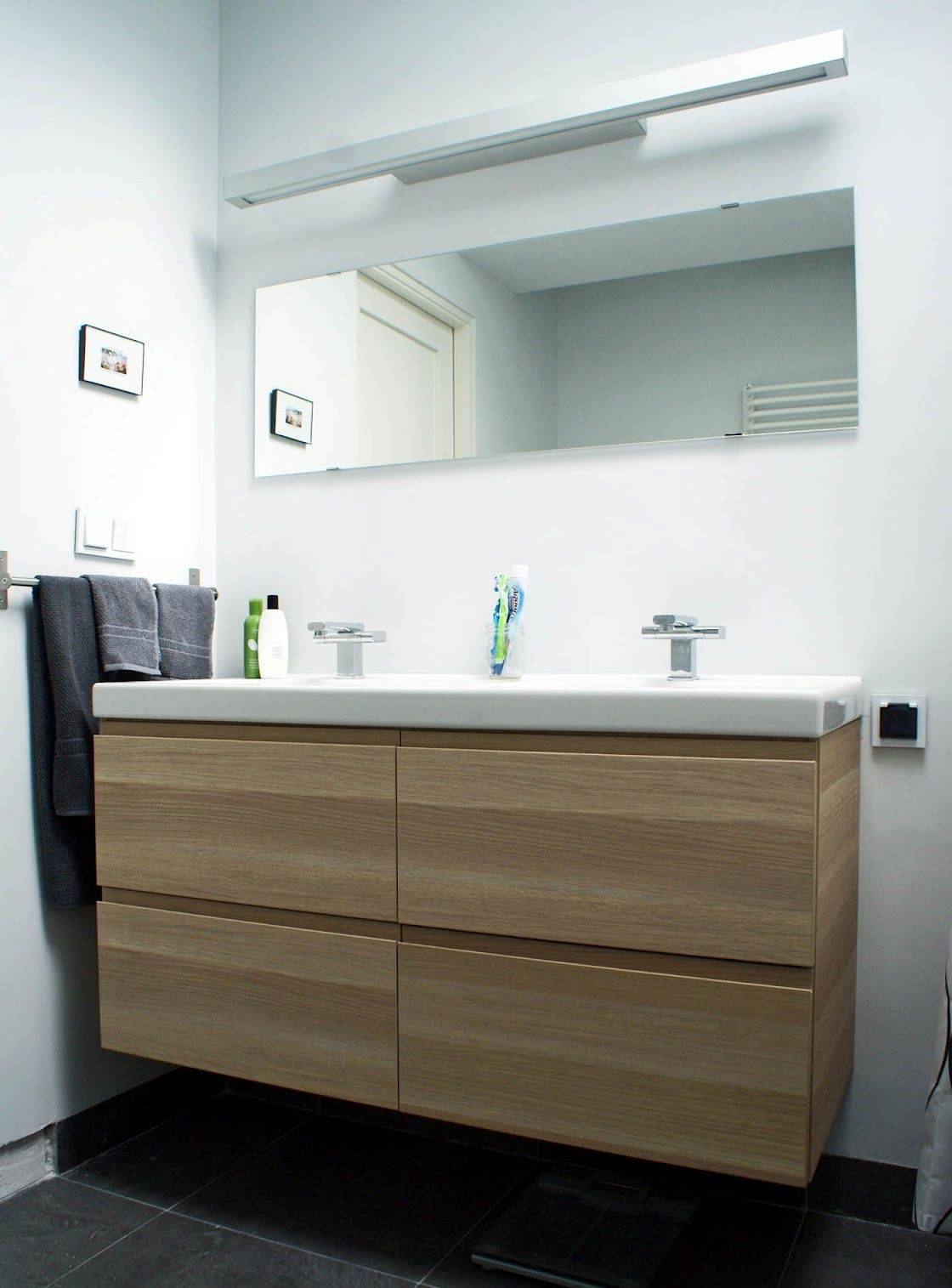 Image of: 48 Double Vanity Wood