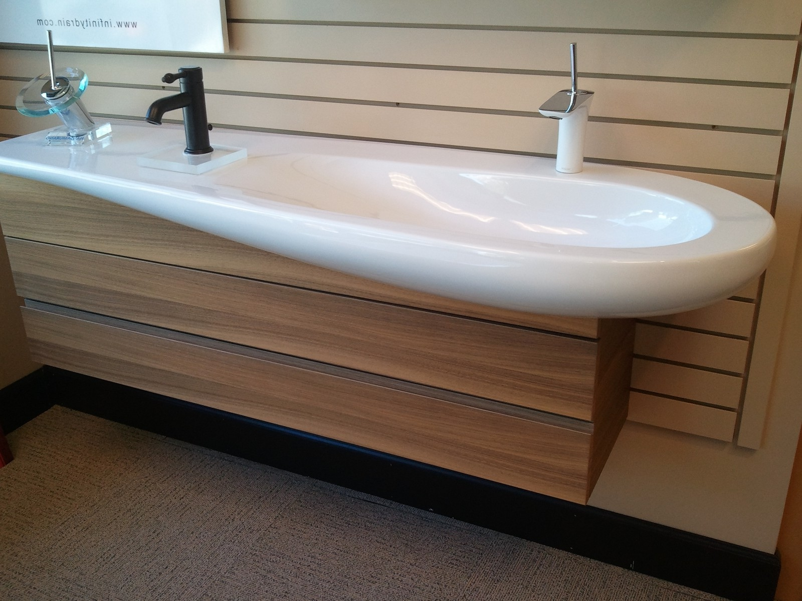 Image of: 48 Double Vanity Wooden