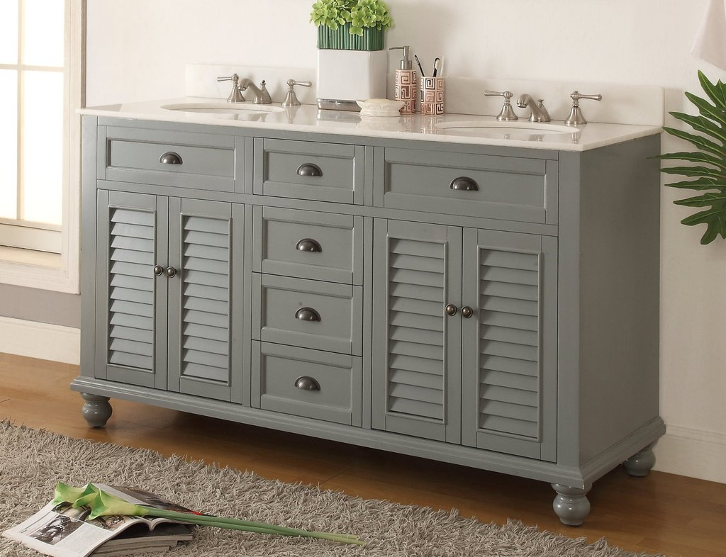 Image of: 60 Double Sink Vanity Design Ideas