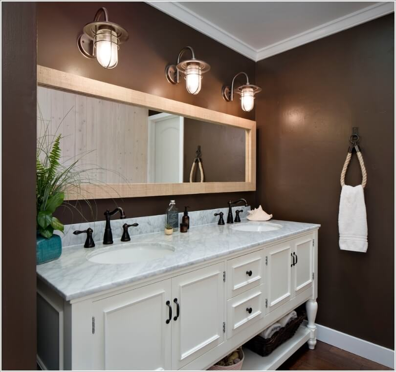 Image of: 60 Double Vanity Lights on Wall