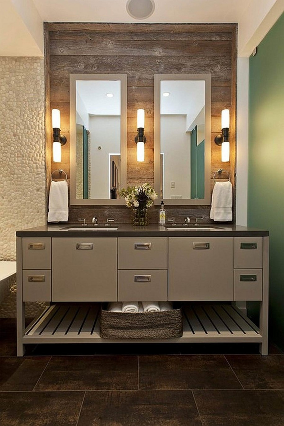 Image of: 60 Double Vanity Wall