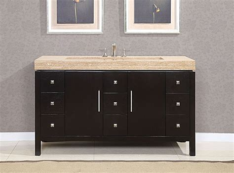 Image of: 60 Inch Bathroom Vanity Double Sink Dark