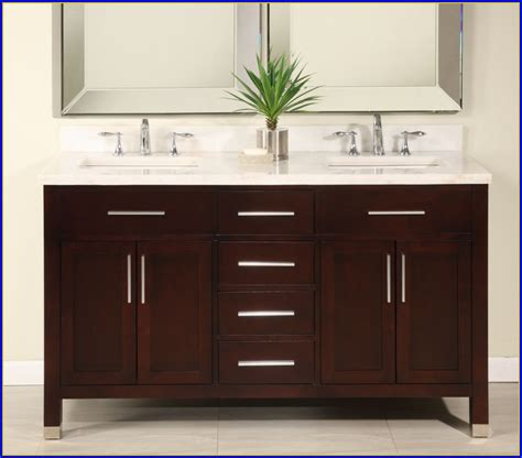 Image of: 60 Inch Bathroom Vanity Double Sink Wooden
