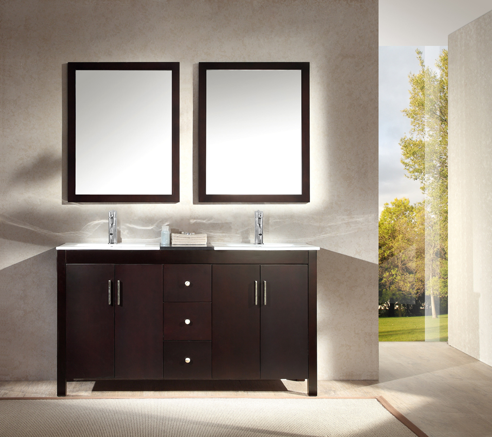 Picture of: New 60 Inch Double Sink Vanity Top