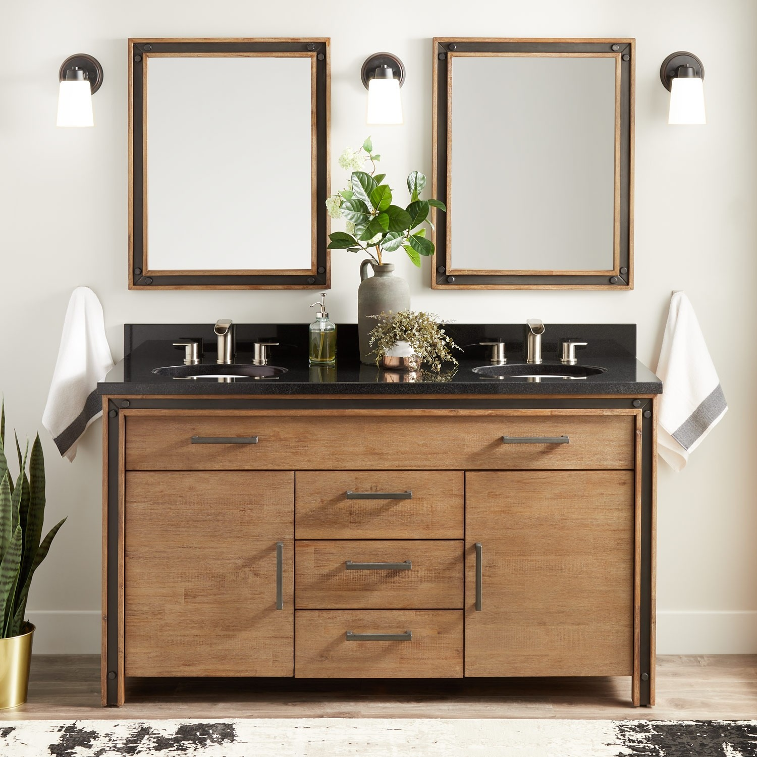 Picture of: Acacia Rustic Double Vanity