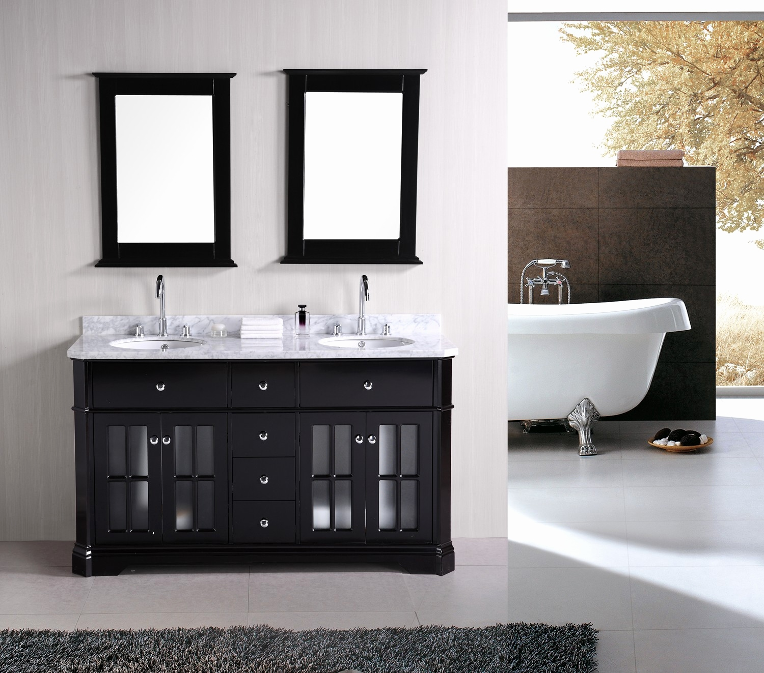 Picture of: Amazing 48 Inch Double Sink Vanity