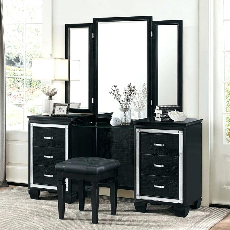 Picture of: Amazing Black Vanity Mirror