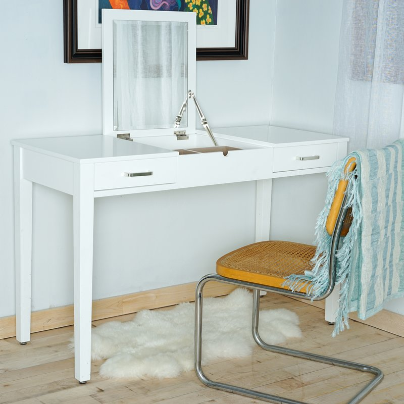 Picture of: Amazing Vanity Desk with Mirror