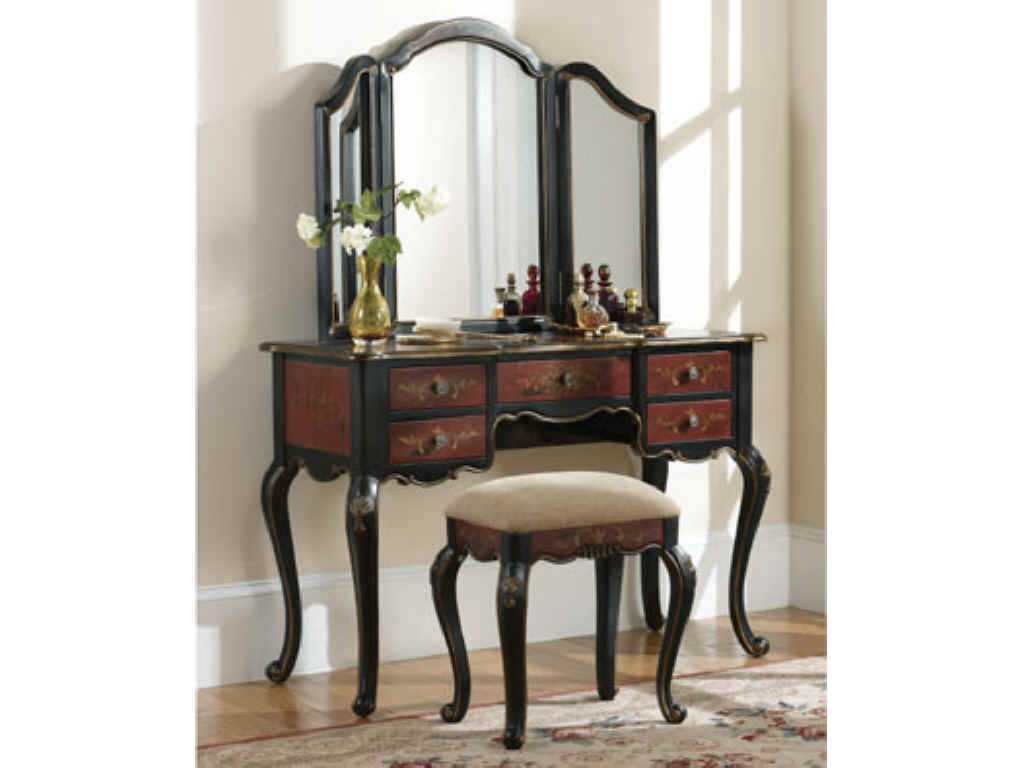 Image of: Antique Bedroom Vanity Idea