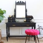 Antique Vanity With Mirror And Drawers