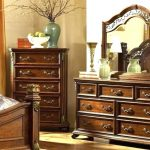 Antique Vanity With Mirror And Stool