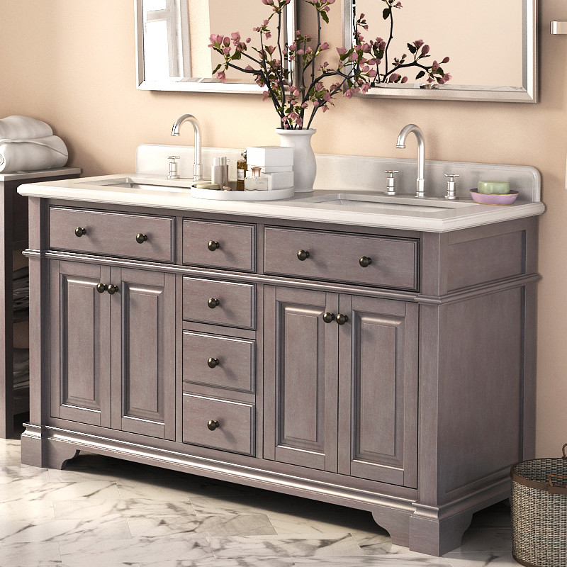 Picture of: Awesome 48 Double Sink Vanity