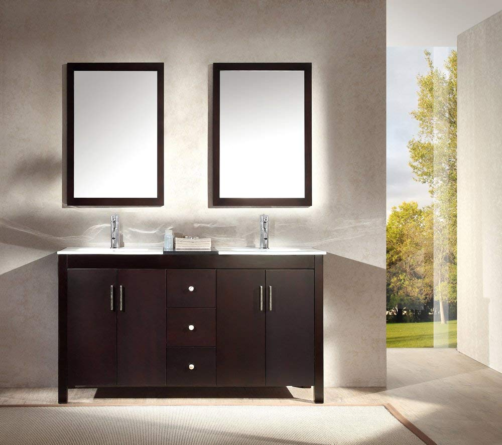 Image of: Awesome 60 Double Sink Vanity