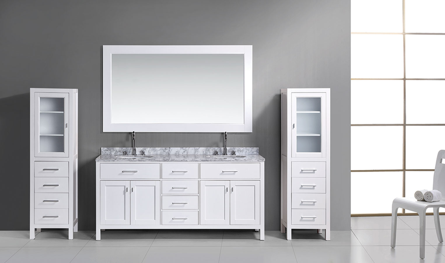 Picture of: Awesome 72 Double Sink Vanity
