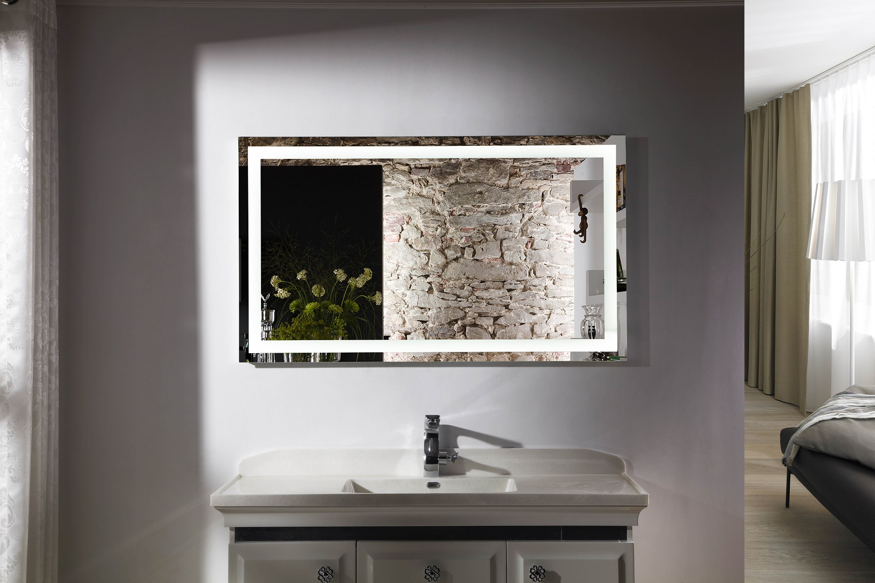 Image of: Awesome LED Vanity Mirror