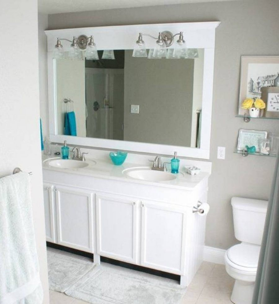 Image of: Bath White Vanity Mirror