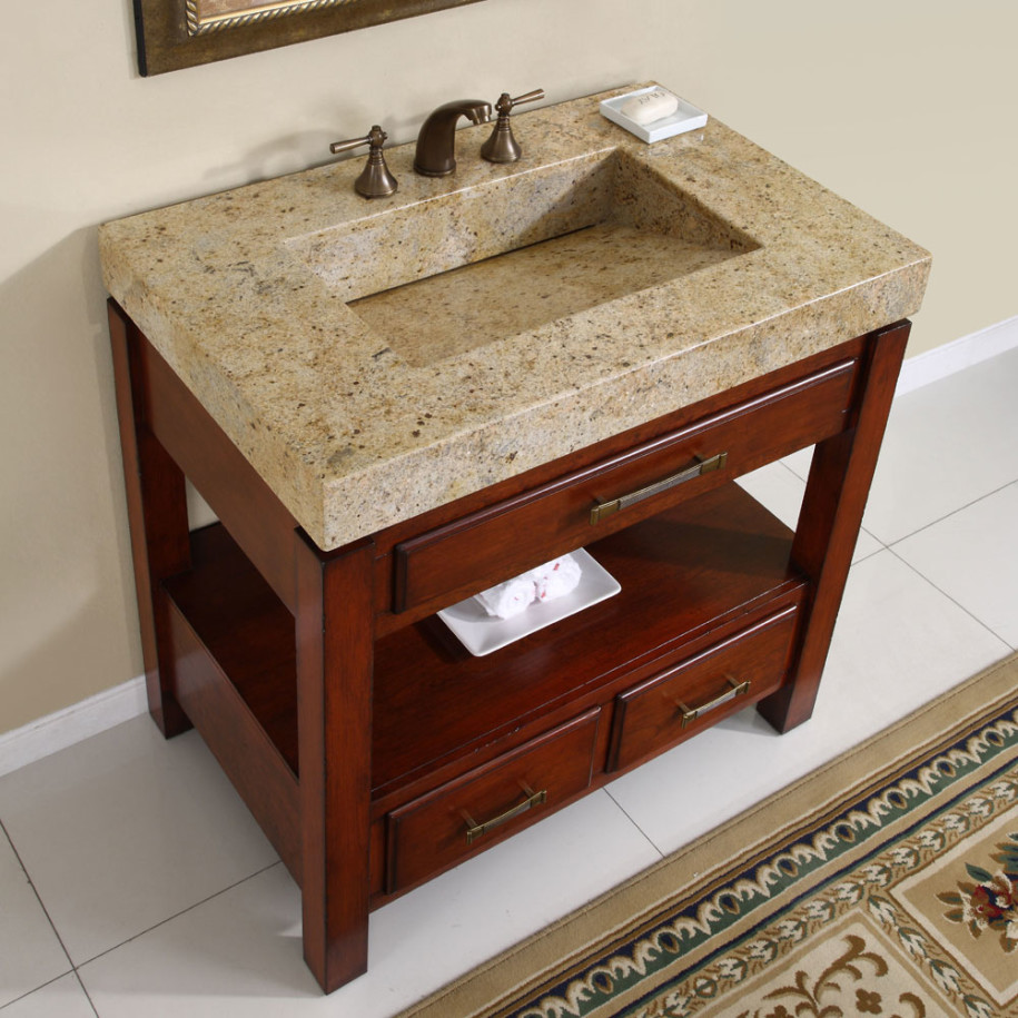 Picture of: Bathroom Vanities with Tops Porcelain