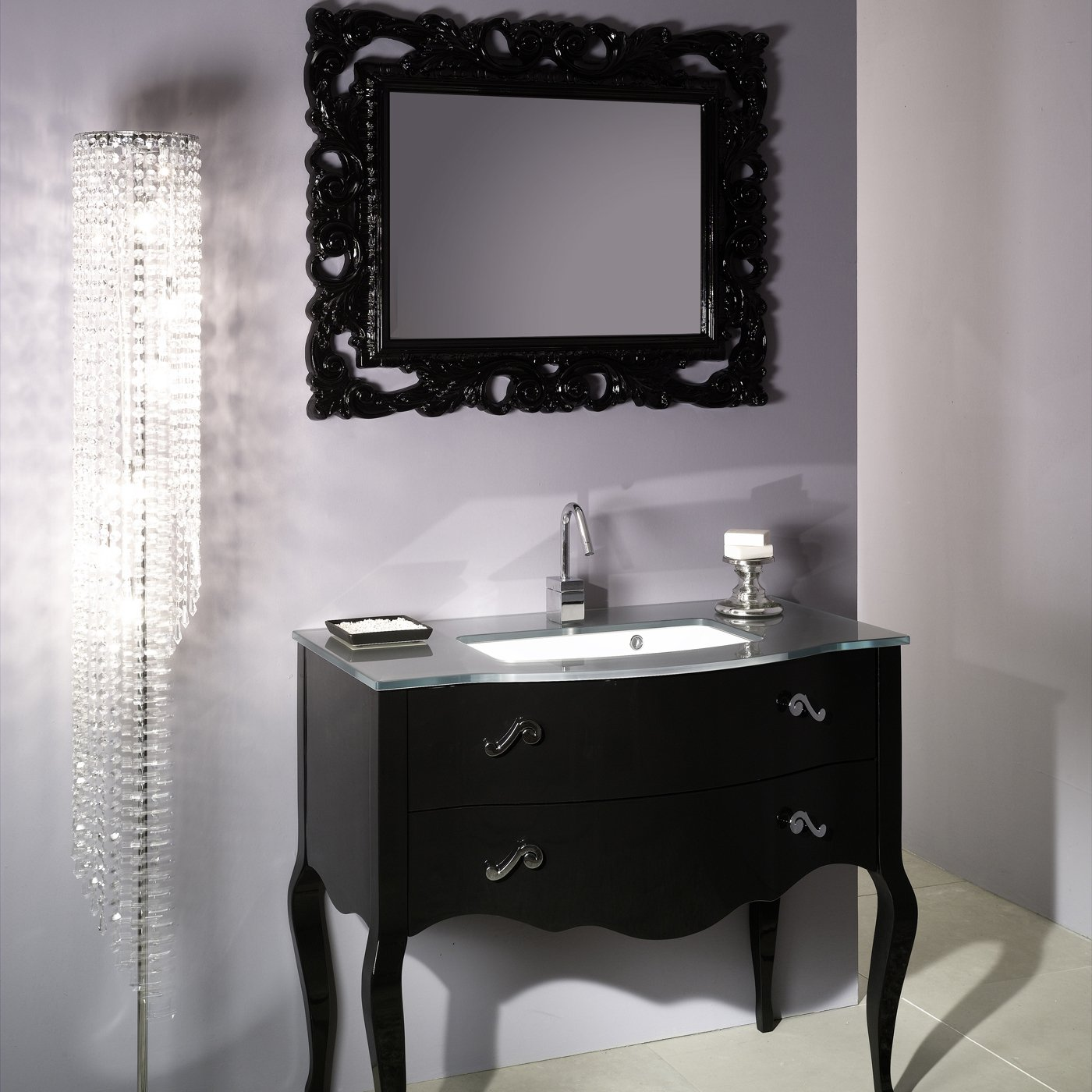 Picture of: Beautiful Black Vanity Mirror
