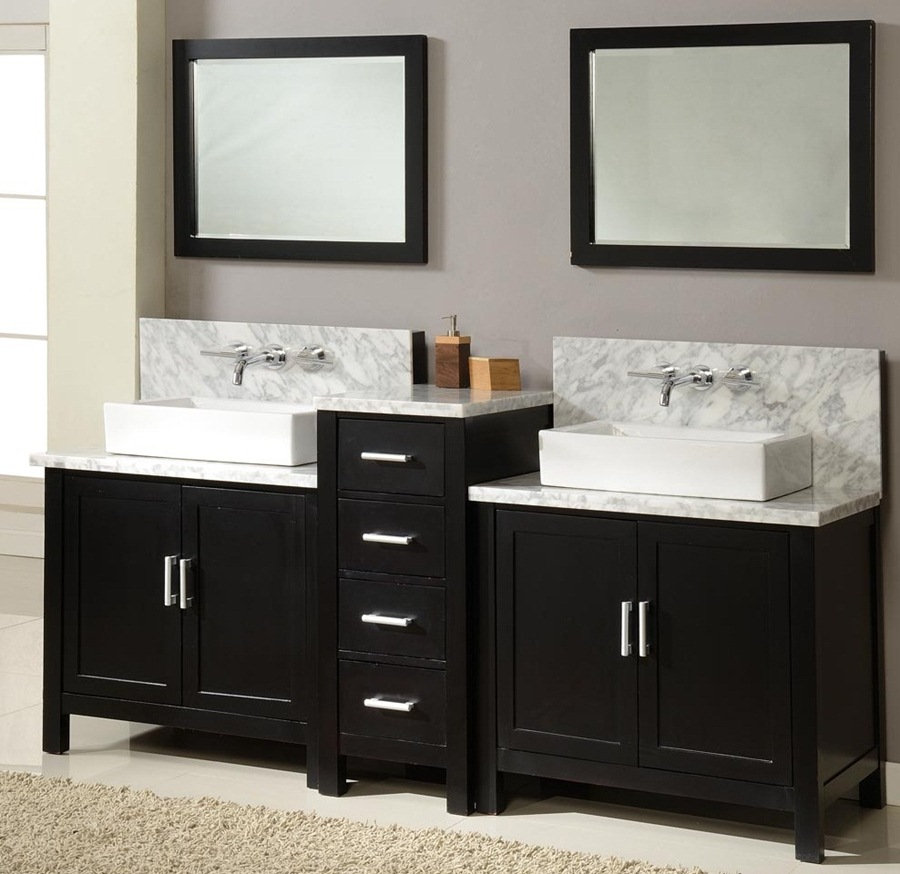 Image of: Beautiful Double Vanity Mirror
