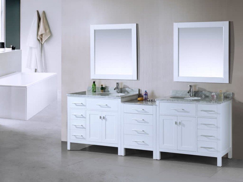 Image of: Beautiful White Double Vanity