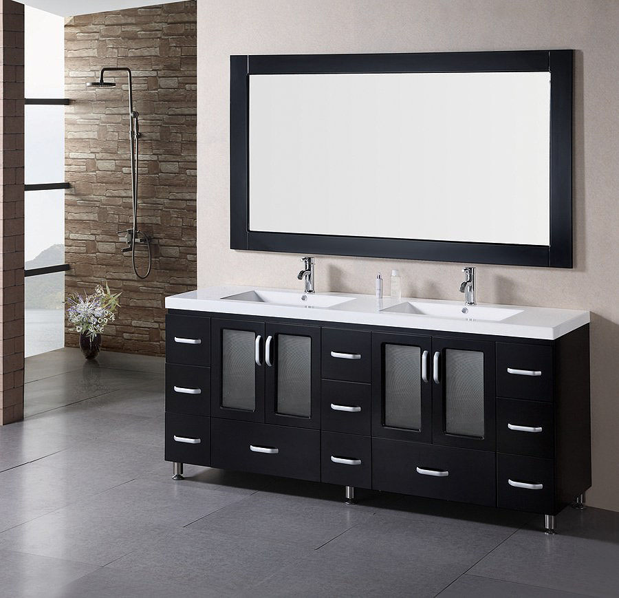Image of: Black Double Vanity