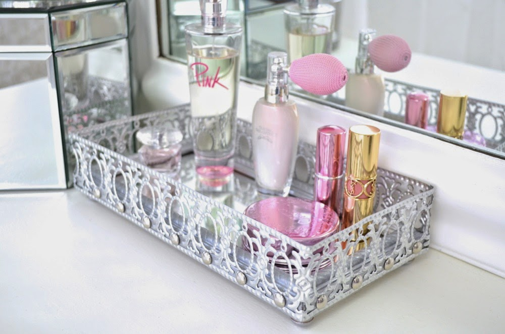 Picture of: Bronze Mirrored Vanity Tray