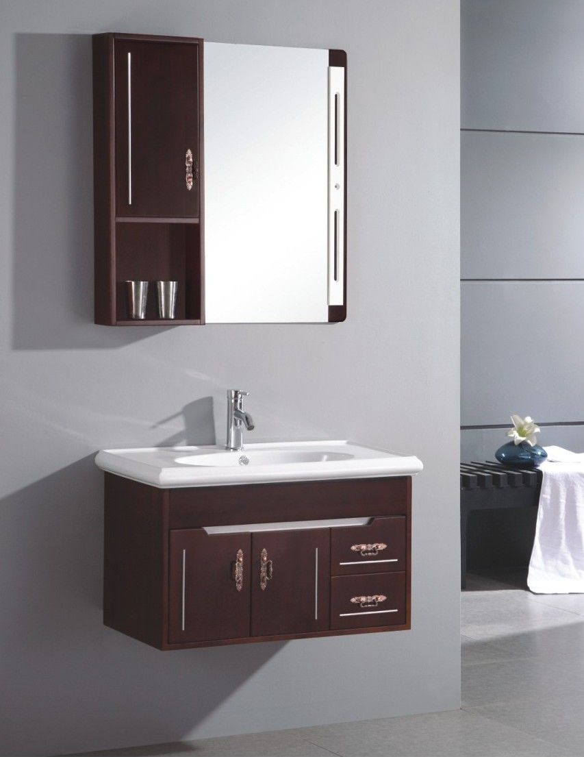 Picture of: Brown Small Bathroom Vanities