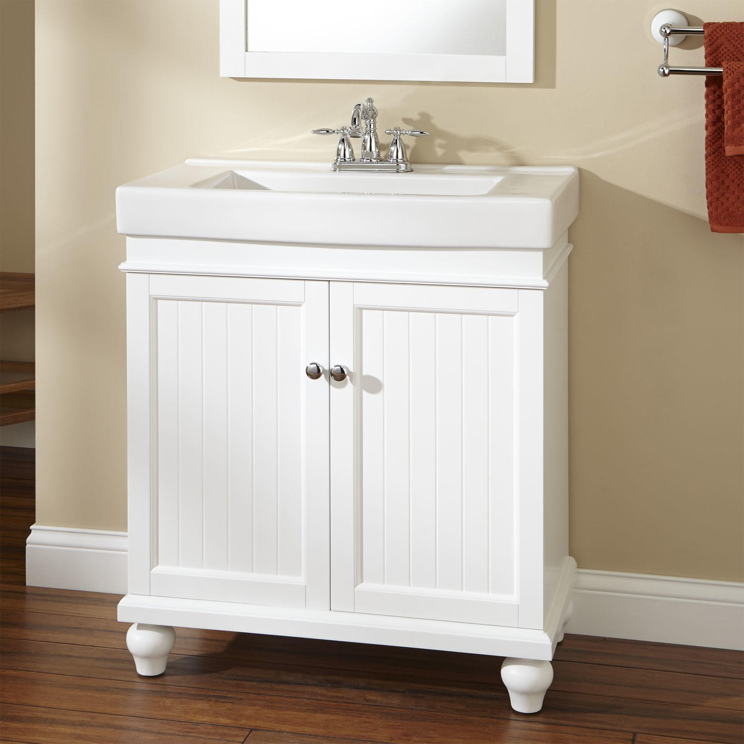 Picture of: Charming Bathroom Vanity with Sink