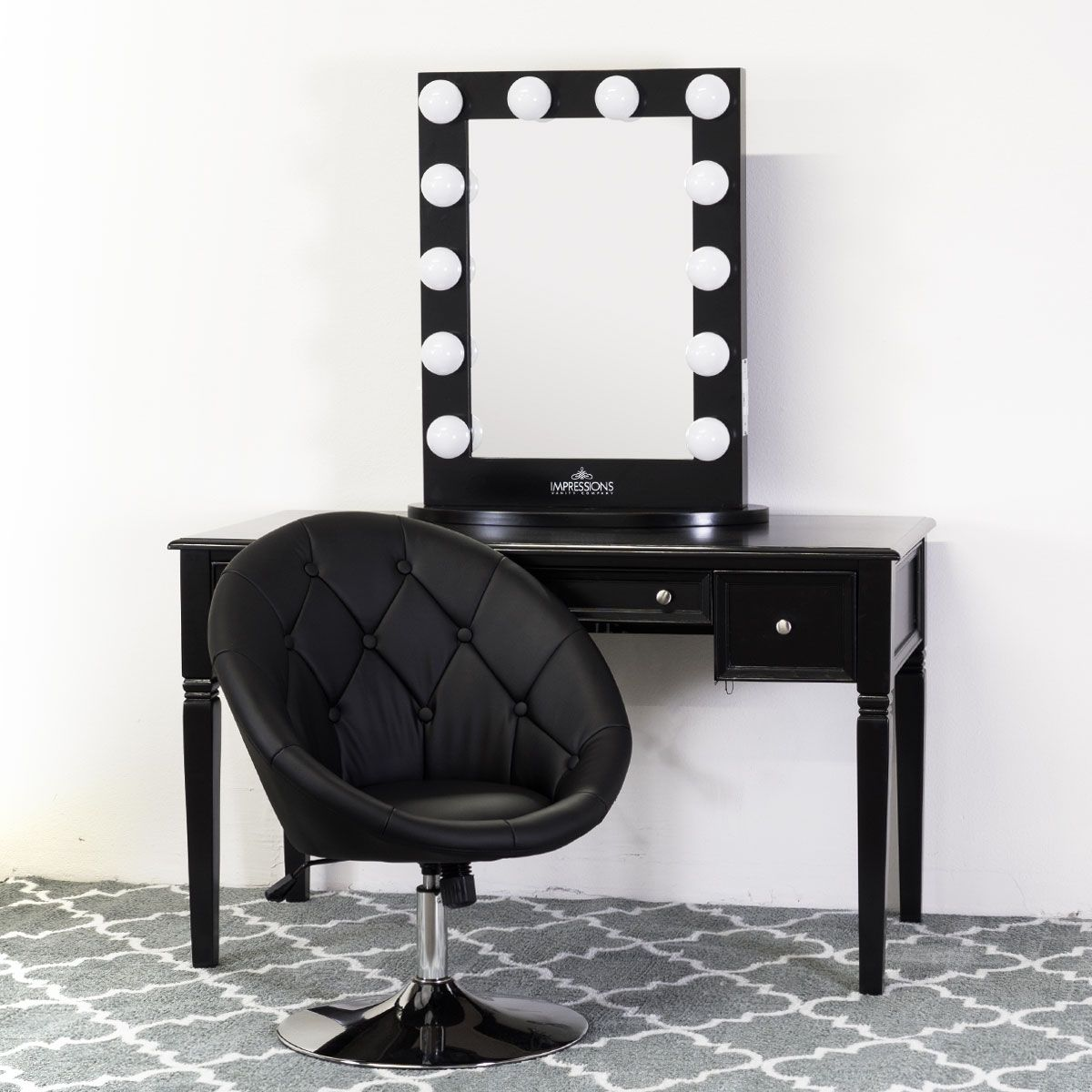 Picture of: Classic Black Vanity Mirror