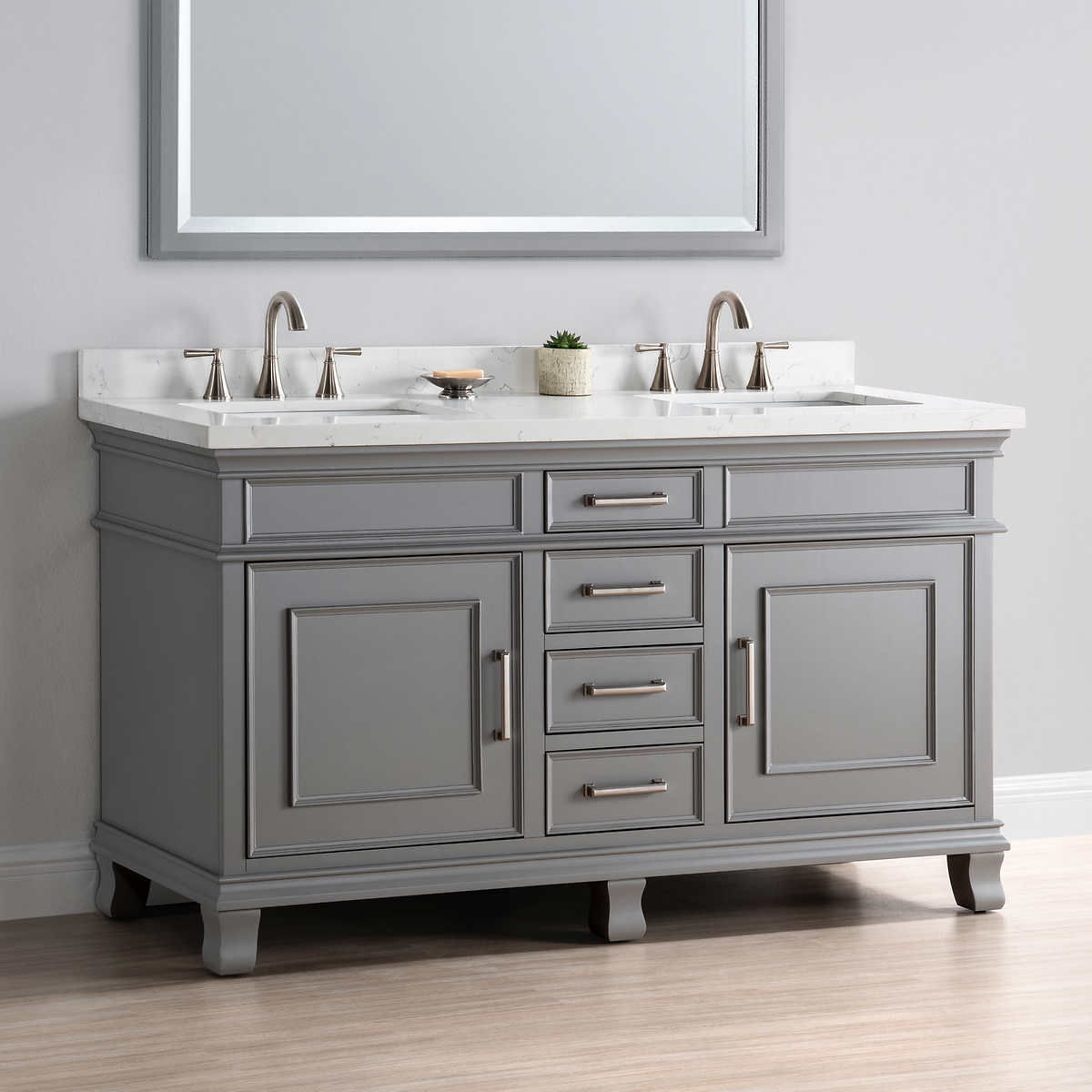 Picture of: Classy 60 Inch Double Sink Vanity