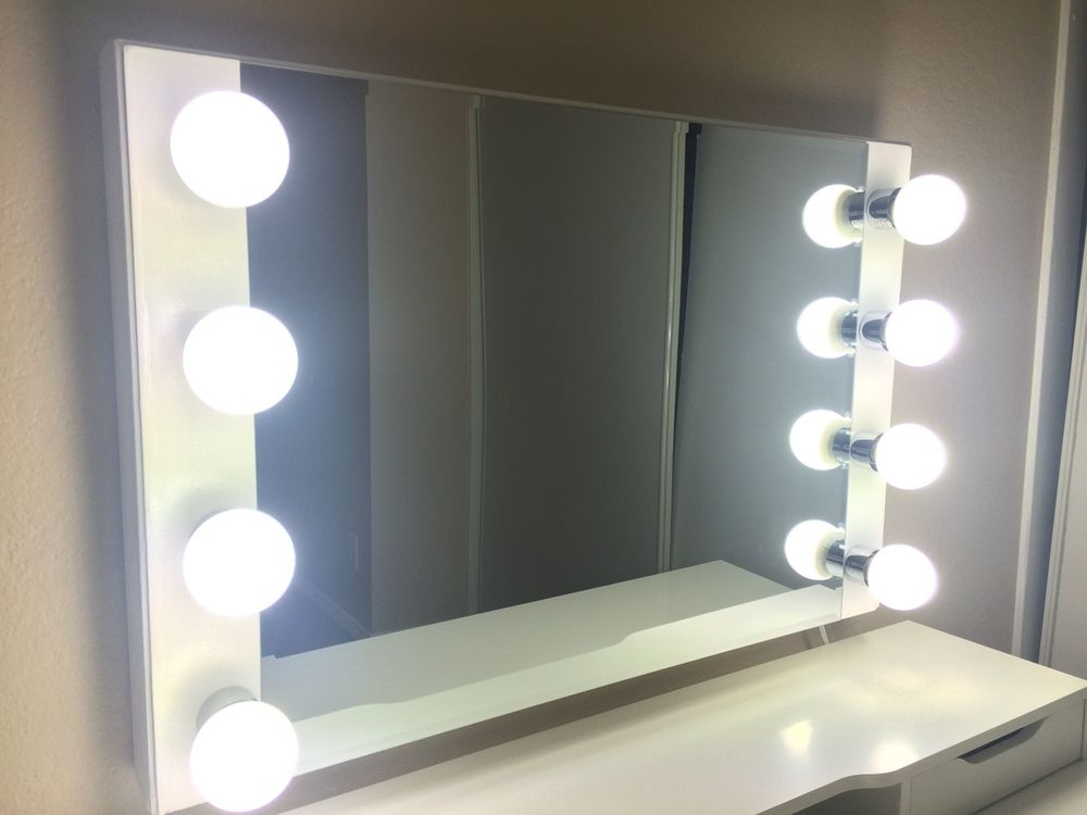 Picture of: Classy Vanity Mirror With Lights Diy